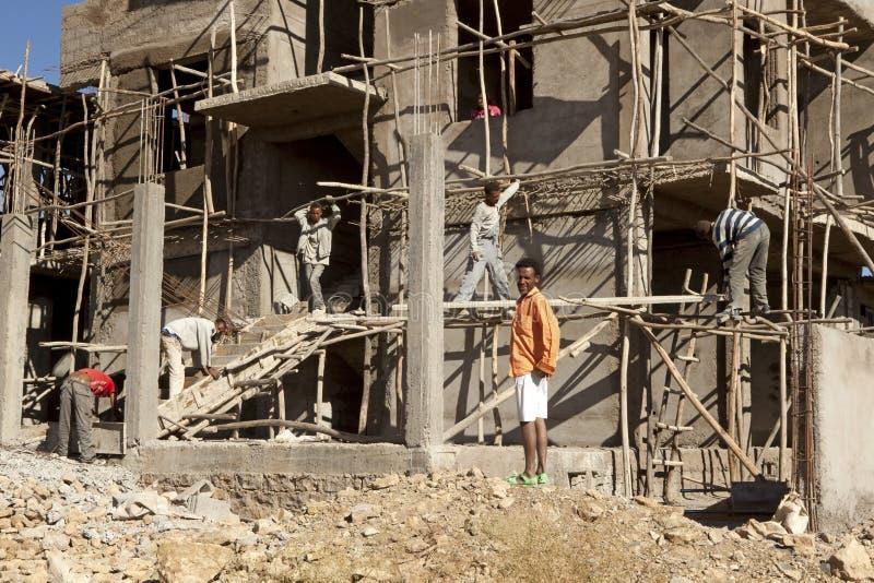 Construction dans Mek'ele, Ethiopie photographie stock