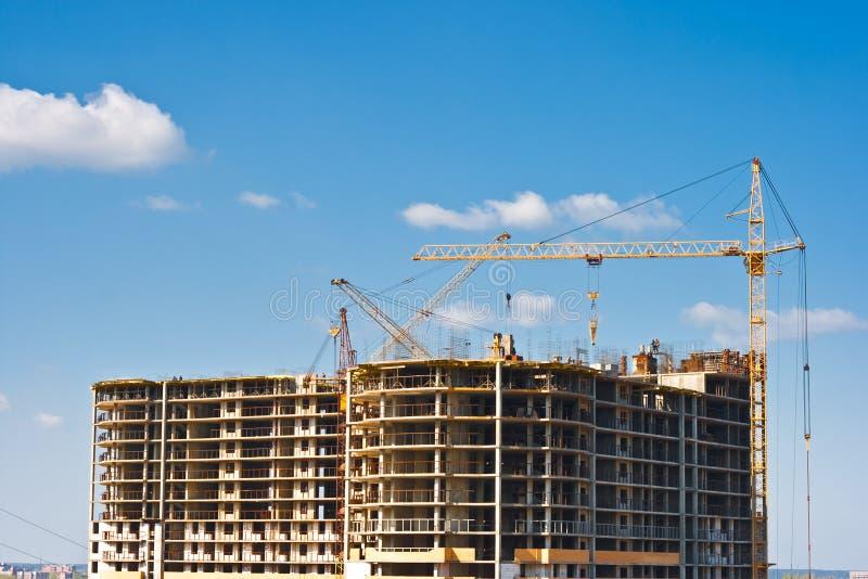 Construction de bâtiments à plusiers étages photographie stock