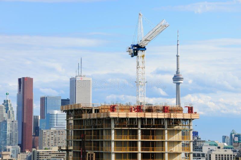 Construction de bâtiments à Toronto image libre de droits