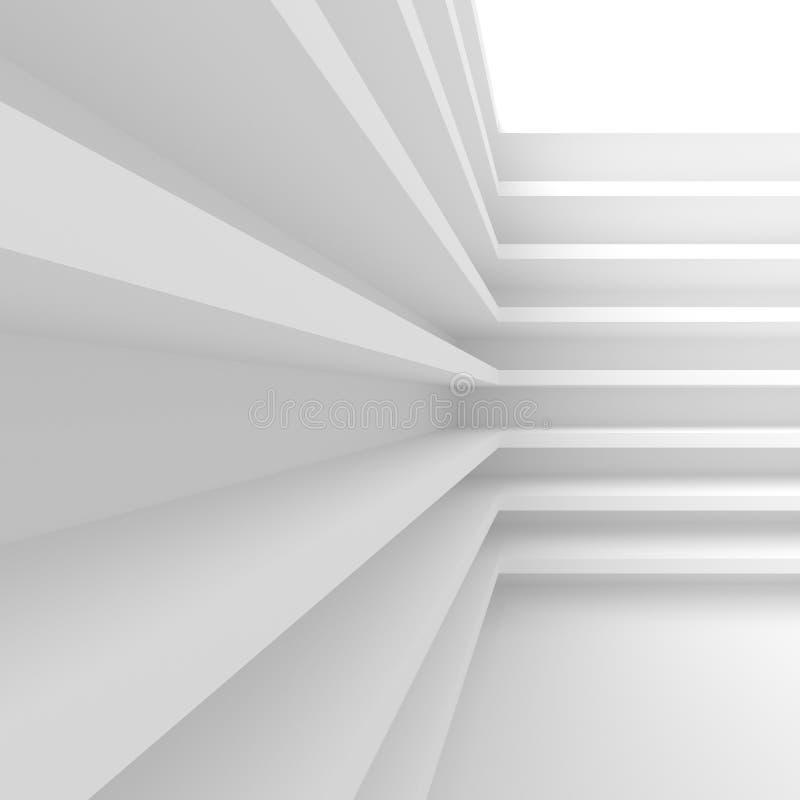 Construction de bâtiments blanche Abrégez le fond d'architecture C illustration stock