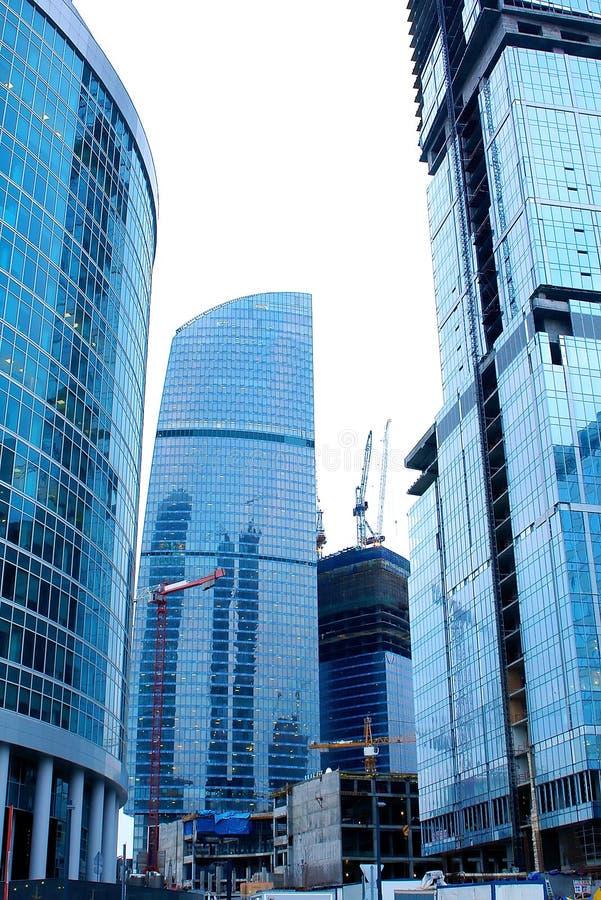 Construction de bâtiments d'affaires photos libres de droits