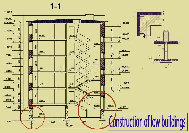 Construction de bas bâtiments photographie stock