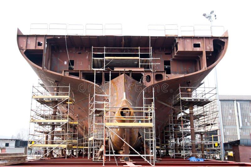 Construction de bateau. images libres de droits
