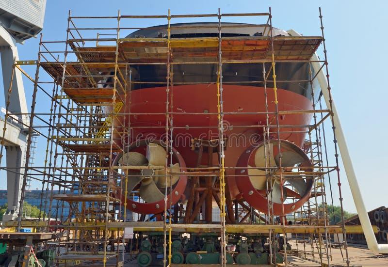 Construction de bateau photos stock