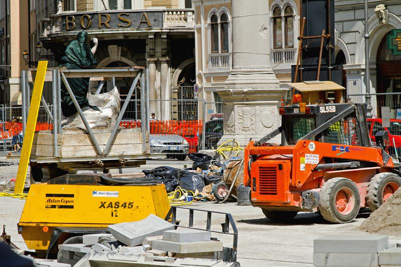 Construction de Borsa Trieste images stock