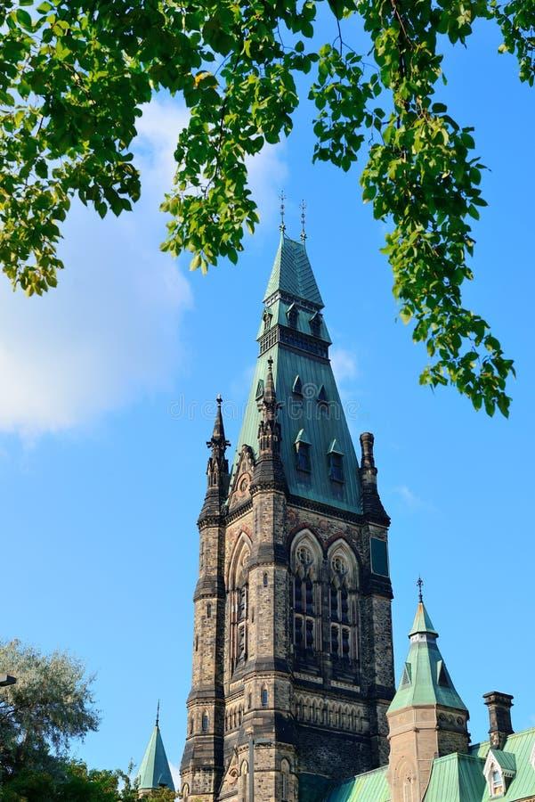 Construction de côte du Parlement d'Ottawa photos libres de droits