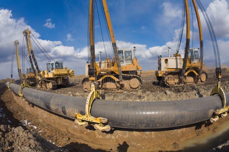 Construction de canalisation images stock