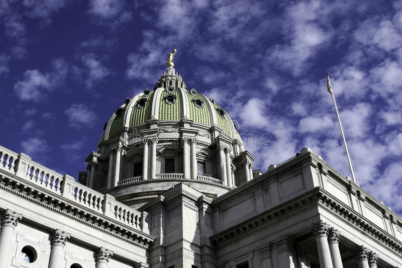 Construction de capitol à Harrisburg, PA image libre de droits