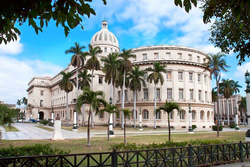 Construction de capitol à La Havane images libres de droits
