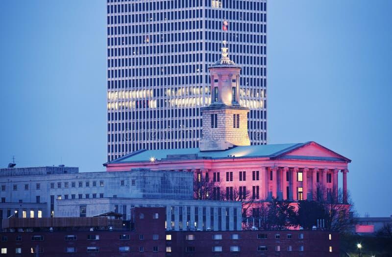 Construction de capitol d'état à Nashville images stock
