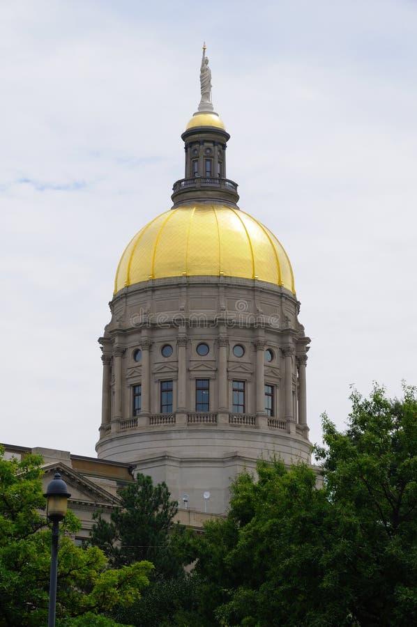 Construction de capitol d'état de la Géorgie à Atlanta photos libres de droits