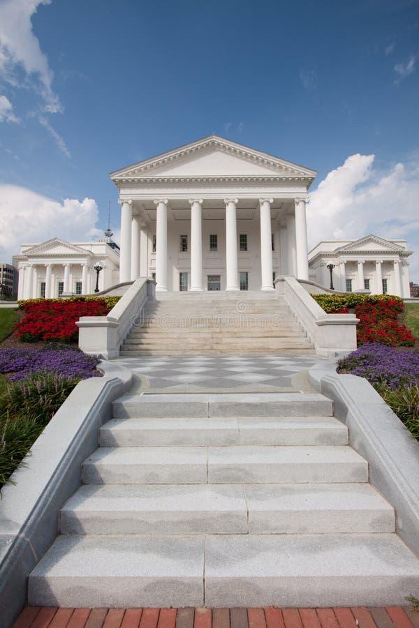 Construction de capitol d'état de la Virginie photos stock