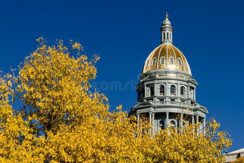 Construction de capitol d'état du Colorado à Denver image stock