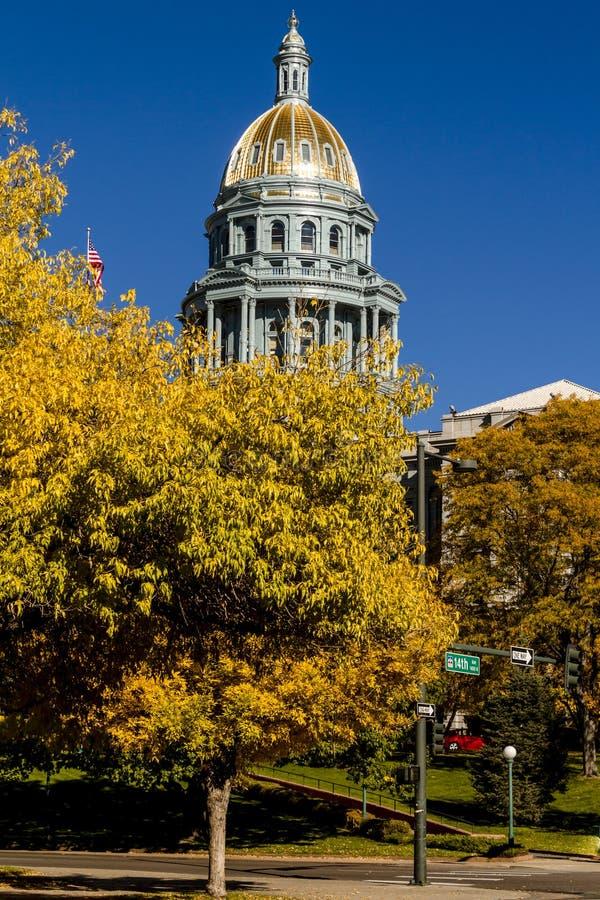 Construction de capitol d'état du Colorado à Denver image libre de droits