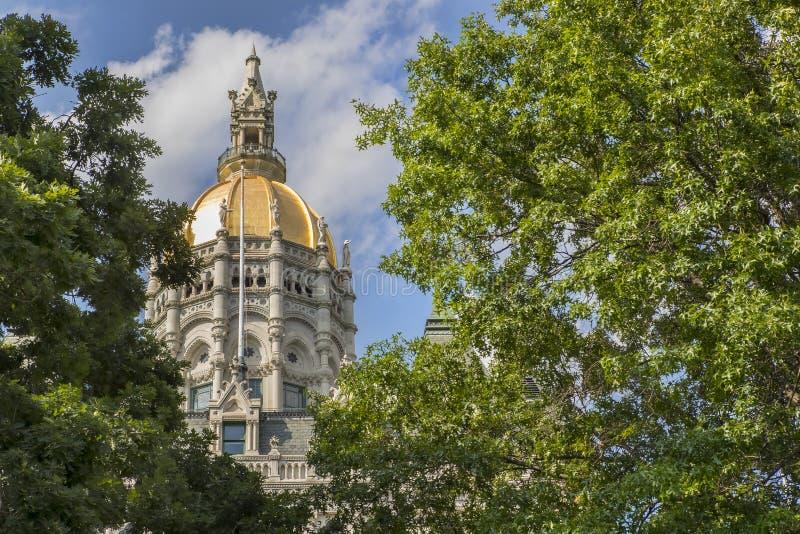 Construction de capitol d'état du Connecticut photographie stock
