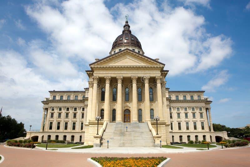 Construction de capitol d'état du Kansas photos libres de droits
