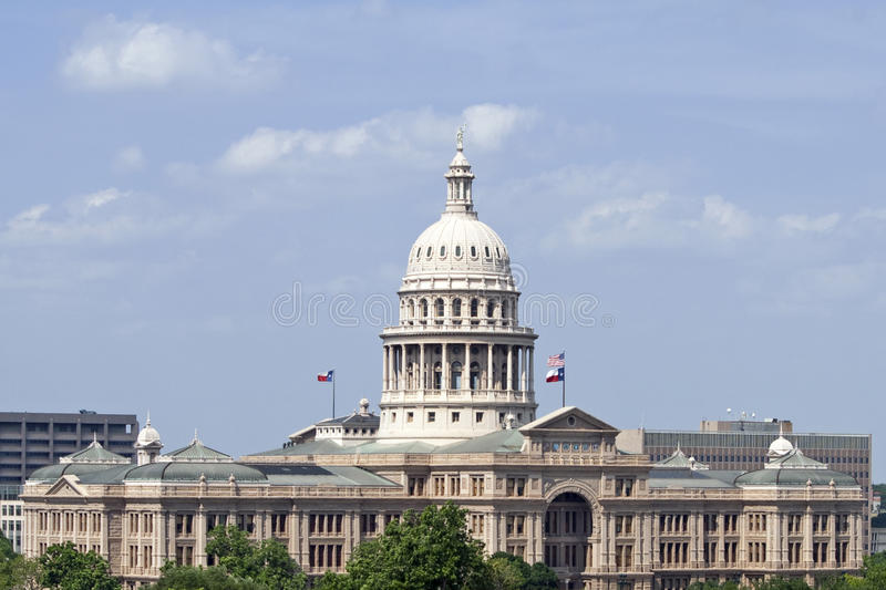 Construction de capitol d'état du Texas images stock
