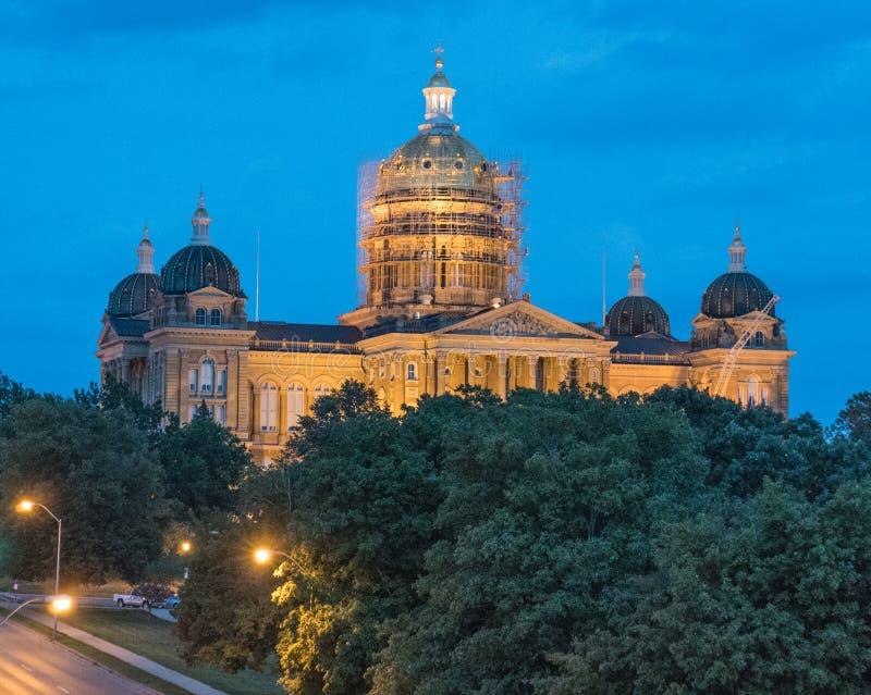 Construction de capitol d'état de l'Iowa images libres de droits