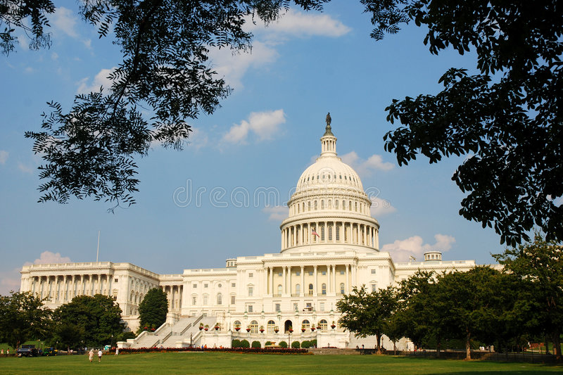 Construction de capitol des USA, Washington DC photographie stock