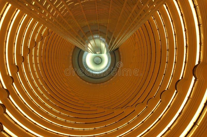 Construction de Changhaï - de JinMao d'intérieur photographie stock