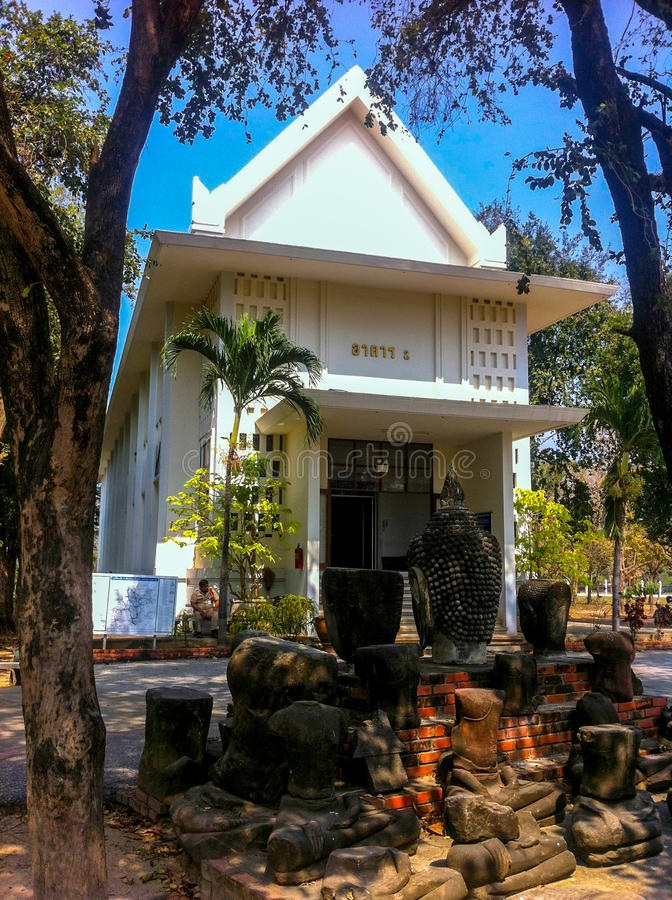 Construction de 2 Chao Sam Phraya National Museum images stock