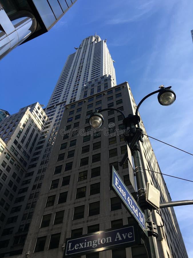 Construction de Chrysler à New York City photographie stock libre de droits