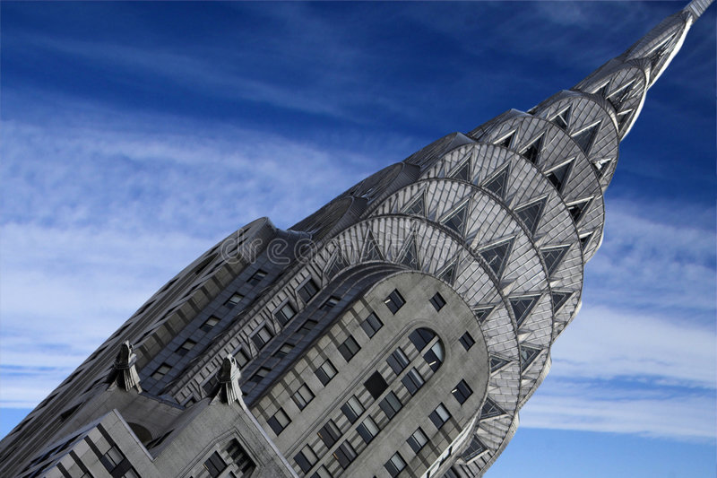 Construction de Chrysler photographie stock