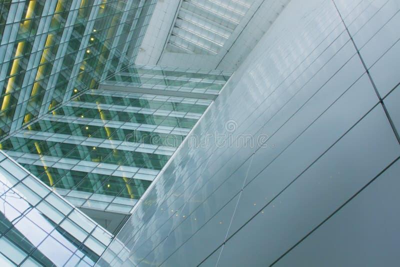 Construction de corporation futuriste images libres de droits