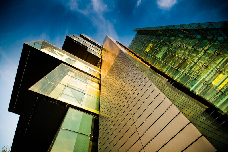 Construction de corporation moderne photo libre de droits