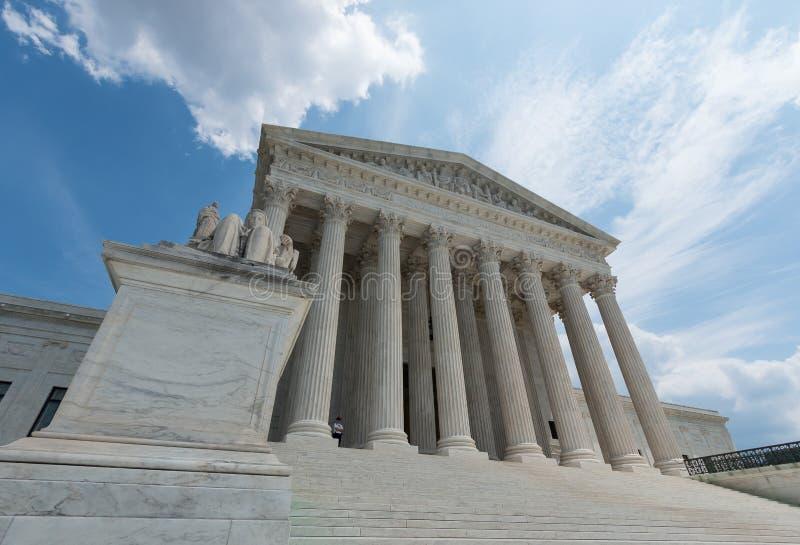 Construction de court suprême des USA dans le Washington DC photo libre de droits