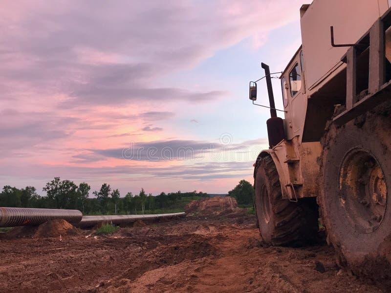 Construction de gazoduc photo libre de droits