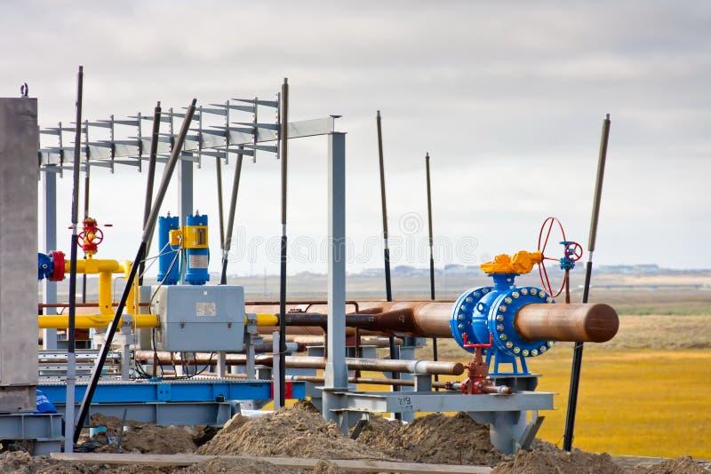 Construction de gisement de gaz images stock