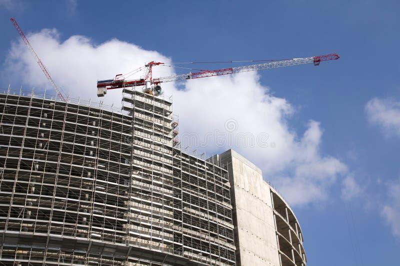 Construction de gratte-ciel image stock