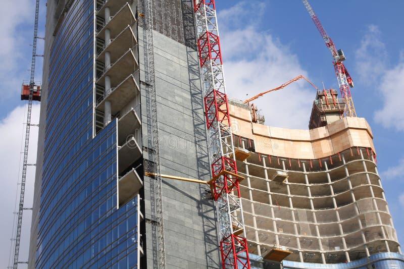 Construction de gratte-ciel image libre de droits