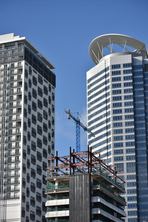 Construction de gratte-ciel photo libre de droits