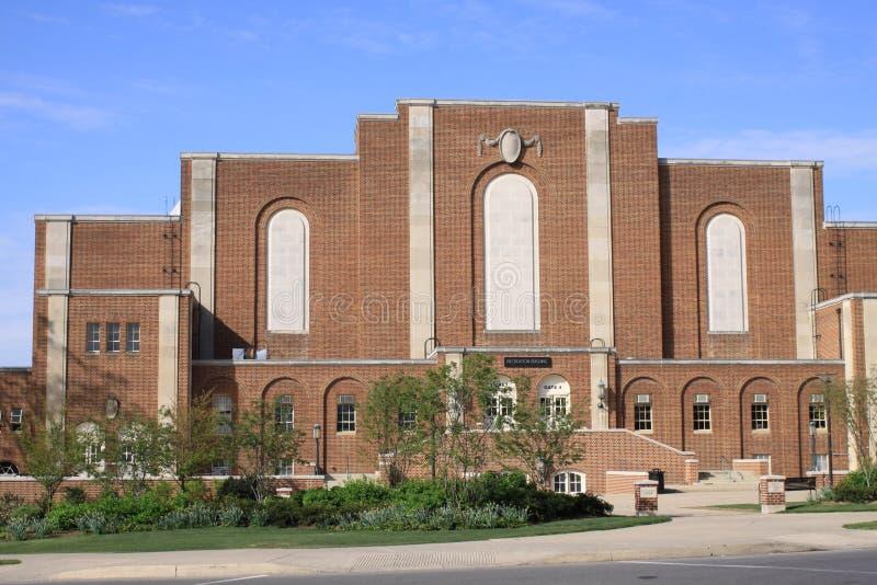 Construction de hall de récréation, campus de l'état de Penn photo libre de droits