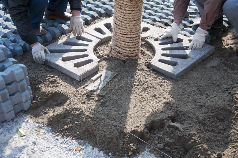 Construction de jardin images stock