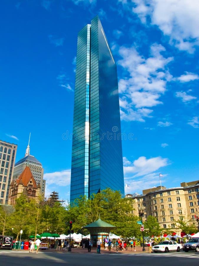 Construction de John Hancock au grand dos de Copley, Boston Etats-Unis photographie stock libre de droits