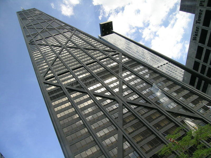 Construction de John Hancock, Chicago, l'Illinois, Etats-Unis photos stock