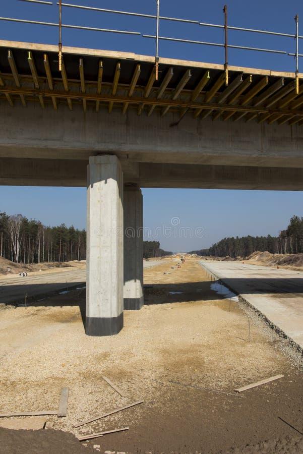Construction de l'autoroute A1 en Pologne photographie stock libre de droits