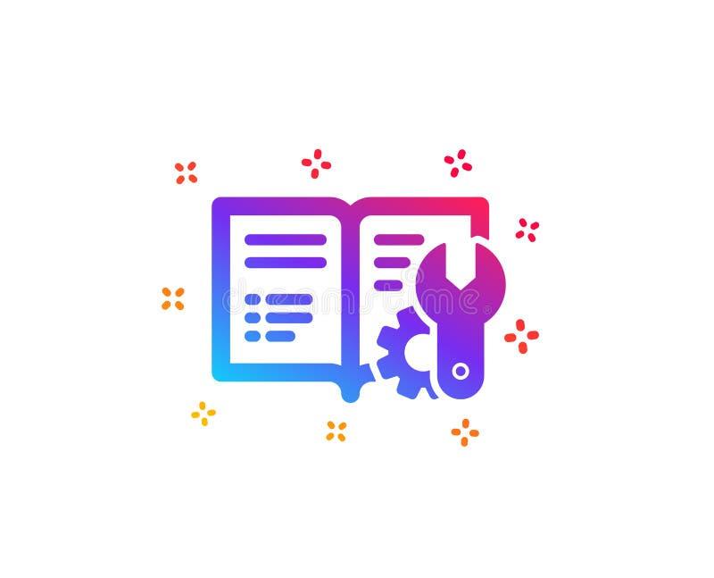 Construction de l'icône de documentation Signe technique d'instruction Vecteur illustration de vecteur