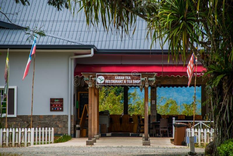 Construction de la boutique et du restaurant près de l'usine malaisienne de thé Sabah borneo photographie stock