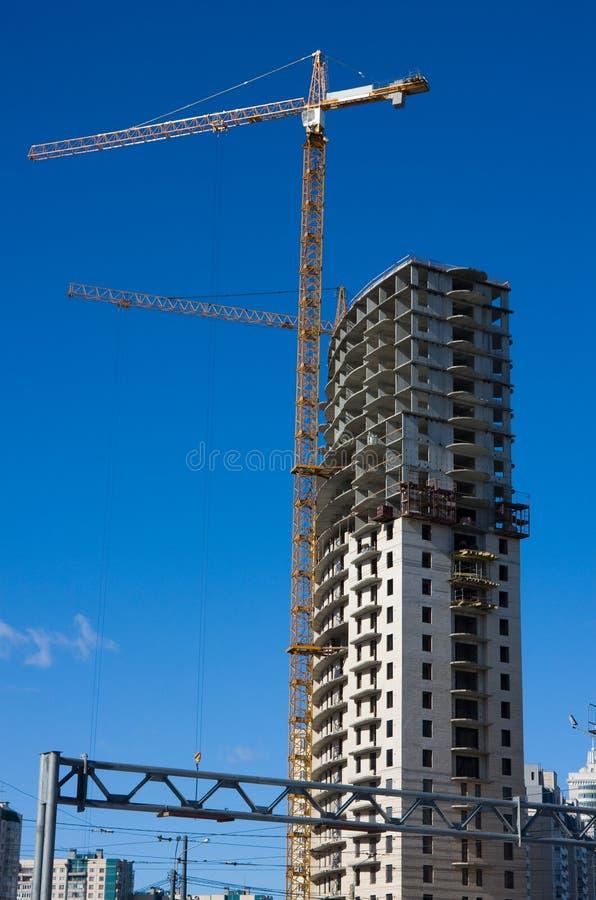 Construction de la maison élevée photos stock