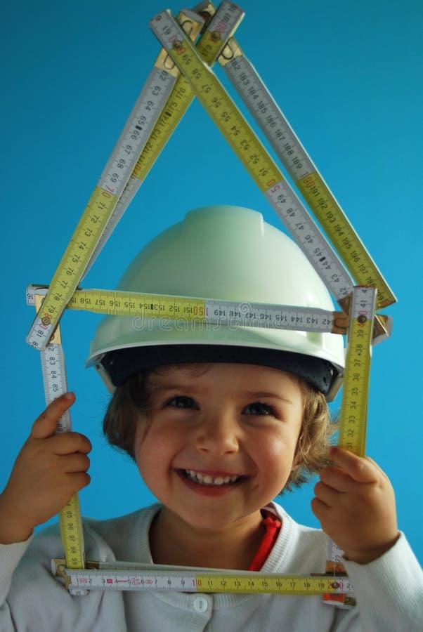 Construction de la maison photo stock