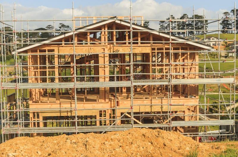 Construction de la nouvelle construction individuelle au Nouvelle-Zélande, Auckland images stock