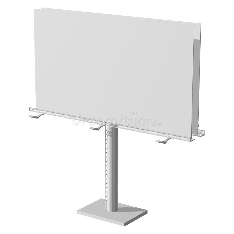 Construction de la publicité pour le grand panneau d'affichage de publicité extérieure Panneau d'affichage pour votre conception  image stock