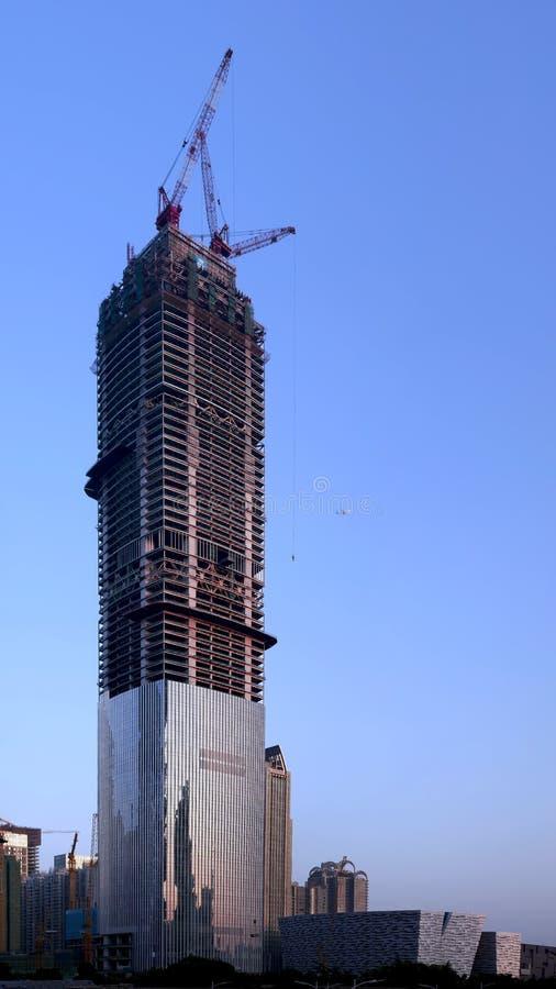 Construction de la tour est de Guangzhou image libre de droits