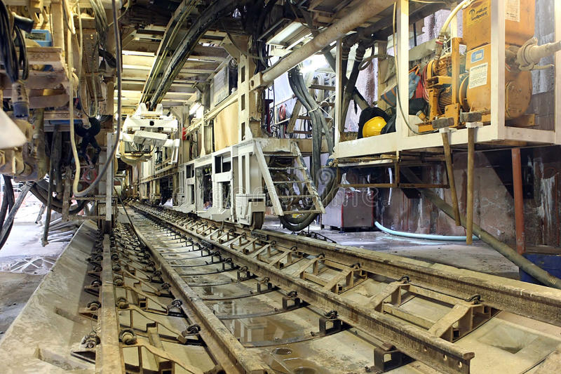Construction de métro photographie stock