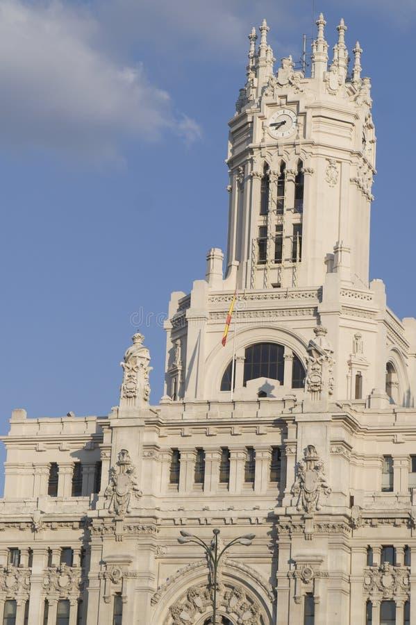 Construction de Madrid, de poteau et de transmission photographie stock