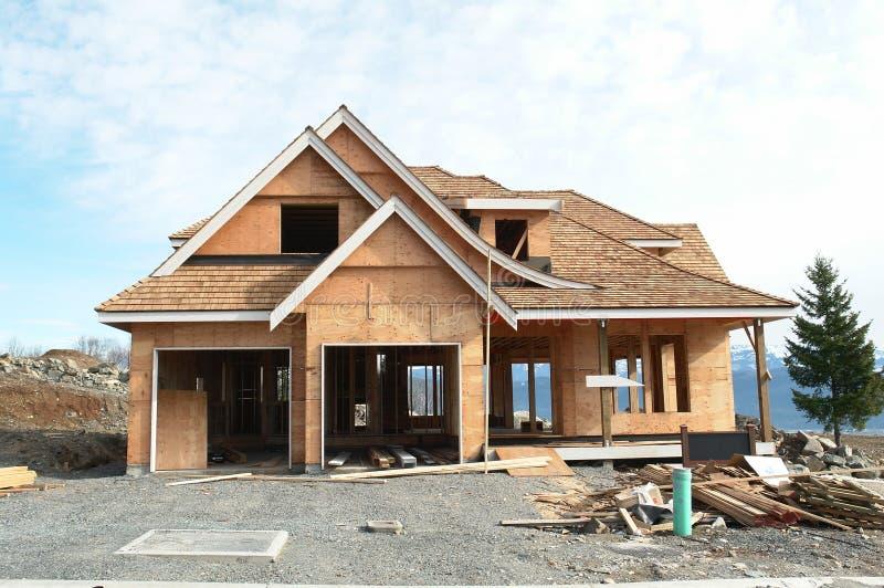 Construction de maison de nouvelle maison image libre de droits